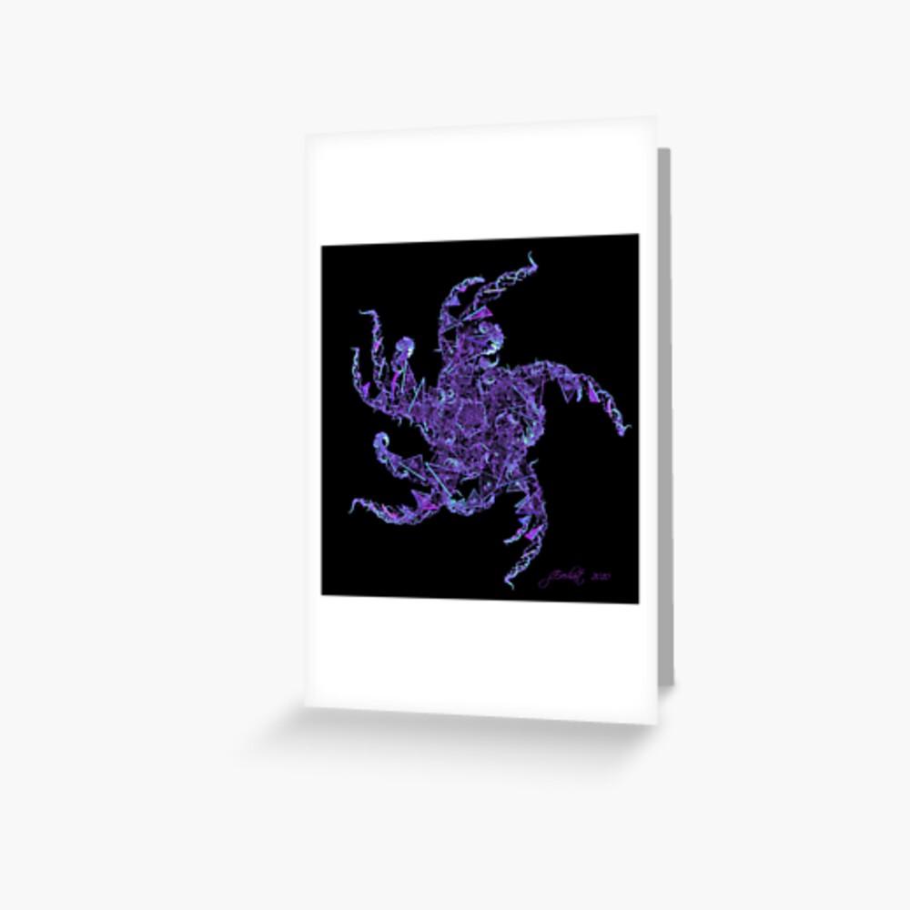 Fractal Purple People Eater Greeting Card