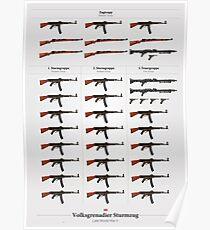 Waffen des deutschen Sturmzugs (Ende des 2. Weltkrieges) Poster