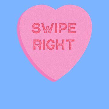 Swipe Right Valentines Day Dating App  by TrndSttr