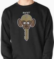 Mon'key' Funny Monkey Cartoon Illustration Pullover