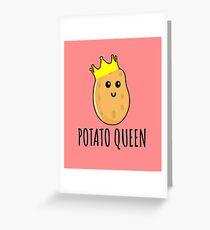 Kartoffel-Königin - lustiges Kartoffelgeschenk Grußkarte