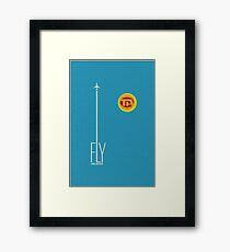 Fly Trans American Airlines Framed Print