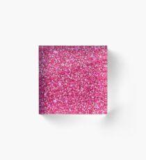 Glitter Pint Print Acrylic Block