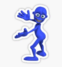 Blue Bottom Man Sticker