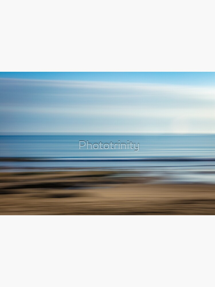 Colourful Abstract Seaview looking out across the Beach to the Ocean by Phototrinity