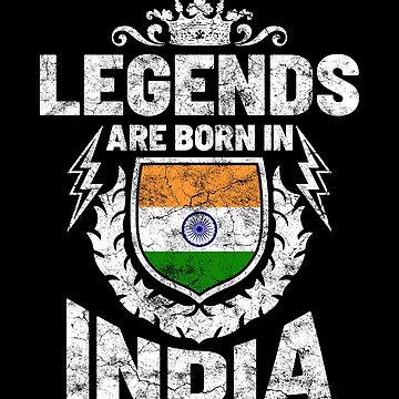Legends are born in India by IchliebeT-Shirt