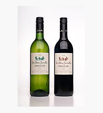 Two bottles to fill five glasses Photographic Print