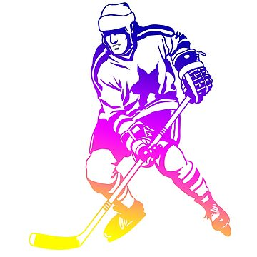 ice hockey icehockey player rainbow colored girl canada worldshampionship goal helmet stick play canada puck goal stick ice skate winner club by originalstar