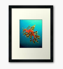 Fatherly duties. Framed Print
