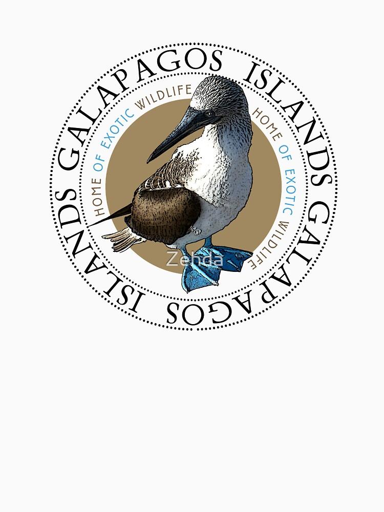 Galapagos-Inseln Blaufußtölpel von Zehda