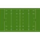 Rugby union pitch by TOM HILL - Designer