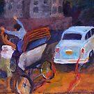 Bicycle Rickshaw Accident by Sandra Hansen