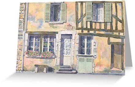 Timber-framed house in Noyers, France by ian osborne