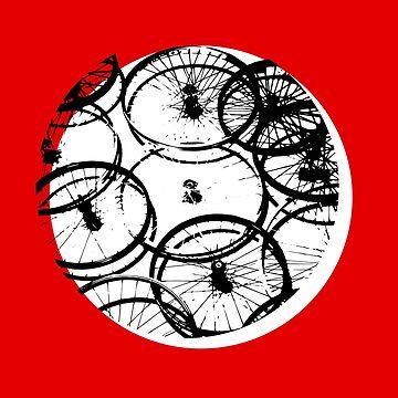 wheel wheels circle round bicycle retro minimal black white vintage photo graphic minimal design spoke bmx racer road bicycle tour by originalstar