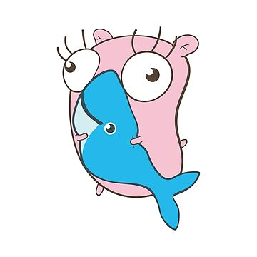 The Golang Mascot: Heartly Hugging Docker by hellkni9ht