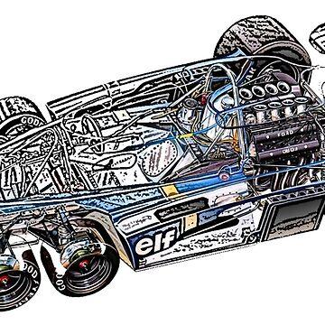 Tyrell P34 cutaway by DrTigrou