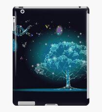 Space low Poly Baum Eco Leben DNA Wissenschaft iPad-Hülle & Klebefolie