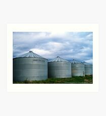 Montana Farm Silos Art Print