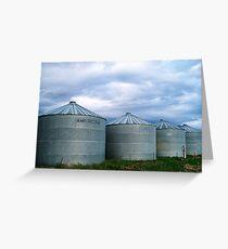 Montana Farm Silos Greeting Card