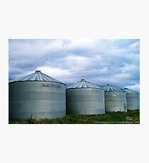 Montana Farm Silos Photographic Print