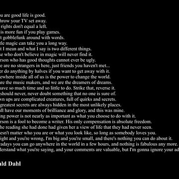 Roal Dahl Quotes by qqqueiru