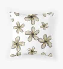Frangipani Throw Pillow
