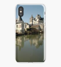 Indres River Reflections, Loches, France 2012 iPhone Case