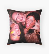 Tribal Group Portrait Throw Pillow