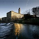 Saltaire Weir and New Mill by Lorne  Campbell
