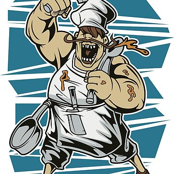 Chef butcher chef's hat cartoon by TundCDesign
