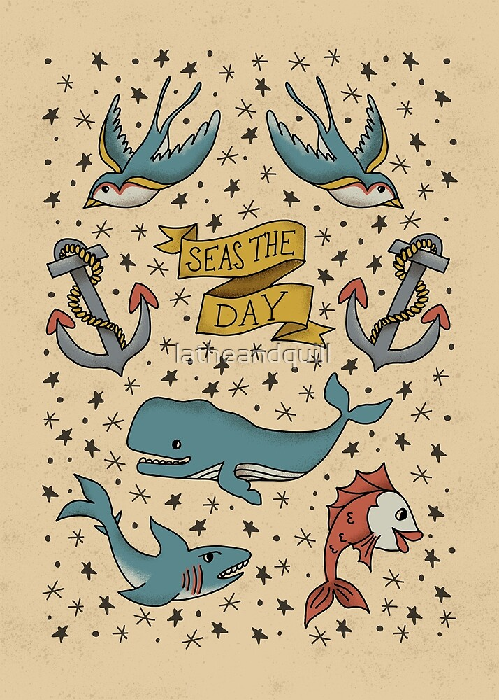 Seas the Day Tattoo 2 by latheandquill