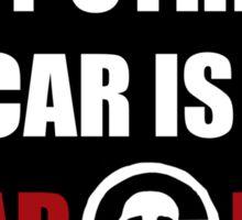 My Other Car Is a War Rig bumper sticker - black Sticker