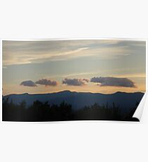 The Animals of Summer, Sunset Over Mount Mansfield Vermont USA Poster