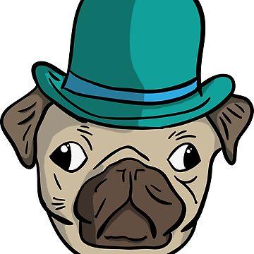 Pug Pugs Dog Pug Gentleman by TundCDesign