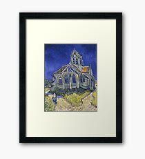 Vincent Van Gogh church at Auvers Framed Print