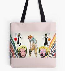 Louis, Miro, Warhol, Toulouse-Lautrec Tote Bag