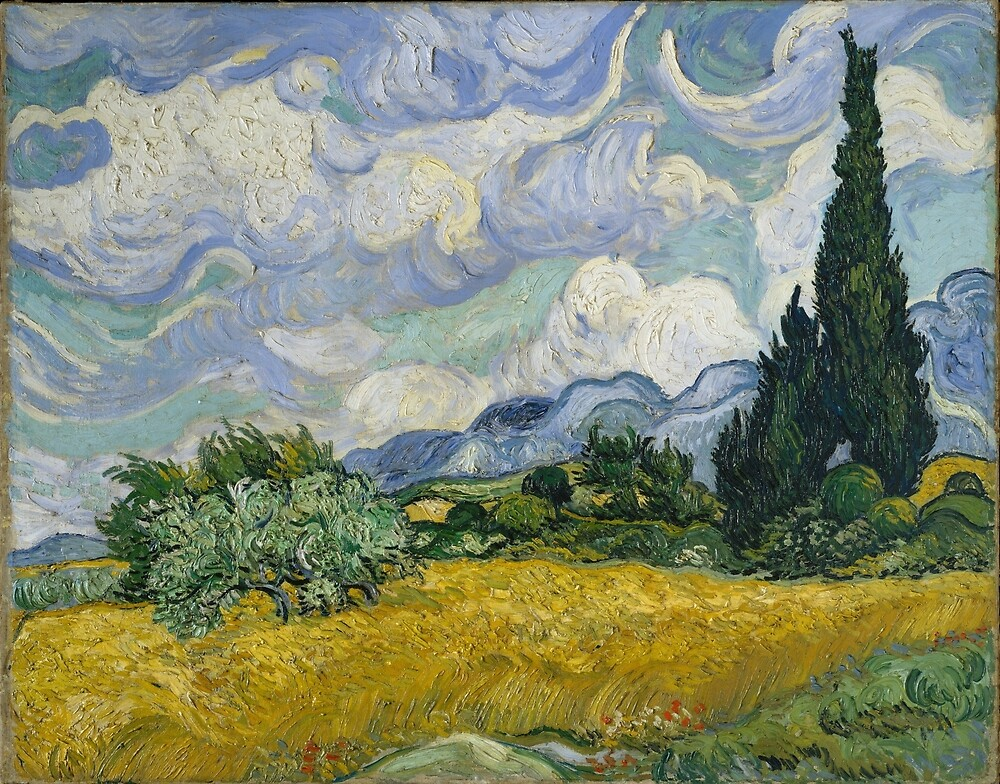 Vincent Van Gogh wheat field with cypresses by Acosmist