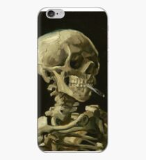Vincent Van Gogh smoking skeleton iPhone Case