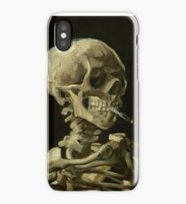 Vincent Van Gogh smoking skeleton iPhone Case/Skin