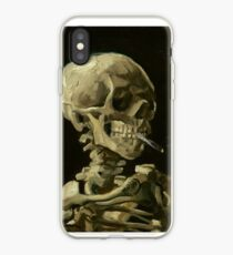 Vincent Van Gogh rauchendes Skelett iPhone-Hülle & Cover
