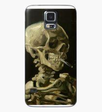Vincent Van Gogh rauchendes Skelett Hülle & Klebefolie für Samsung Galaxy