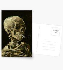 Vincent Van Gogh smoking skeleton Postcards