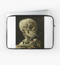 Vincent Van Gogh smoking skeleton Laptop Sleeve