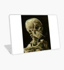 Vincent Van Gogh smoking skeleton Laptop Skin