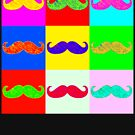 Mustache by Warhol by ofthebaltic