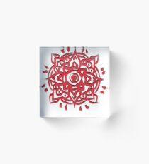 HAPPY HOLI FESTIVAL Colorful Celebrations India Ornament Mandala Acrylic Block