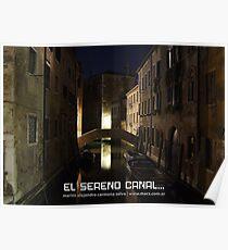 El sereno canal, de romántica luz Poster