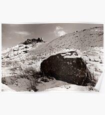 The Wainstones in Winter (Selenium Duotone) Poster