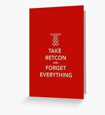 Take Retcon Greeting Card