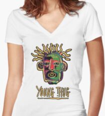 Young Thug - Old English Women's Fitted V-Neck T-Shirt